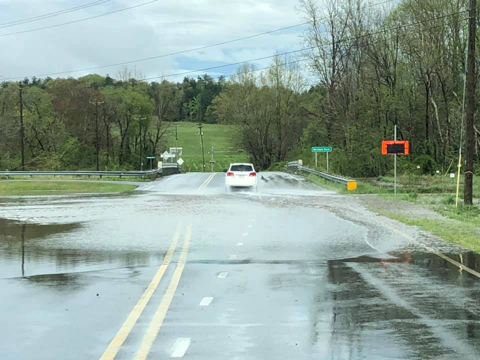 Jessica Lewis sent in this photo of flooding on Highway 64