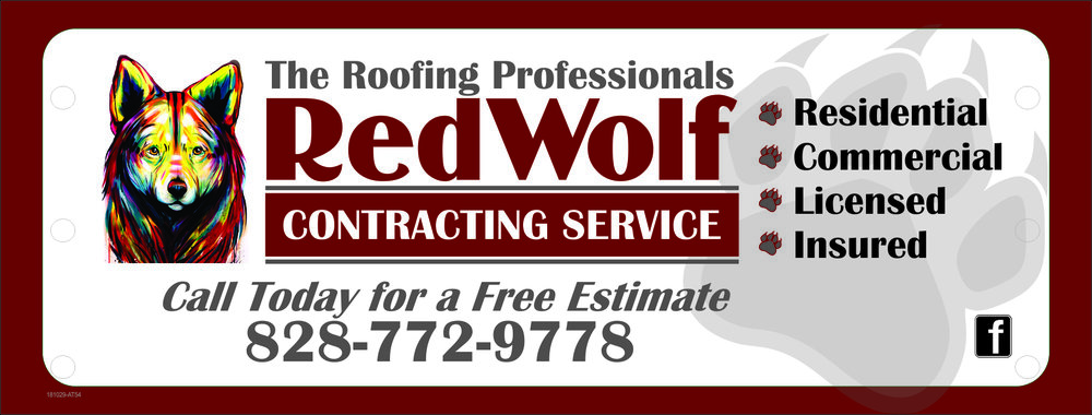 Looking for a trusted local company to take care of your new roof or roofing repair? Look no further than the team at RedWolf Contracting Service. Give Matt a call (828)772-9778 or visit their website  nc-roofers.com  to set up your free roof inspection today and tell him that Hunter sent you!
