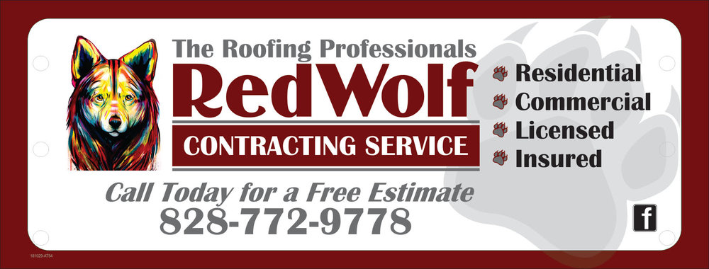 Looking for a local and trusted roofing professional to handle your roofing repair or replacement? Look no further then RedWolf Contracting Service! With a trusted name, and a proven track record, Matt and the team always put the needs of the customer first! Call them at (828)772-9778 or visit their website  nc-roofers.com  to set up your free roof evaluation!