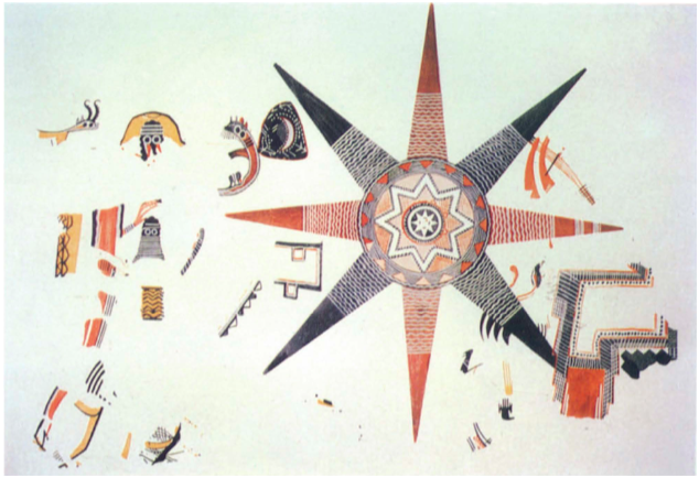 The Star Fresco from Teleilat Ghassul, Jordan