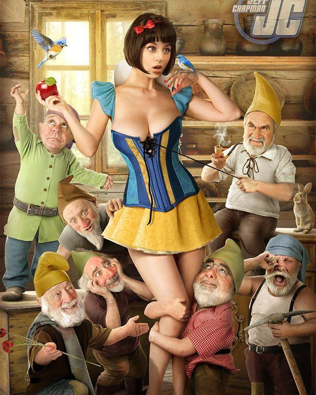 #snowwhite #jeffchapman #cosplay #disney #nsfw #sexy #sdcc #sdcc2016 #dwarves #funny #disneyprincess