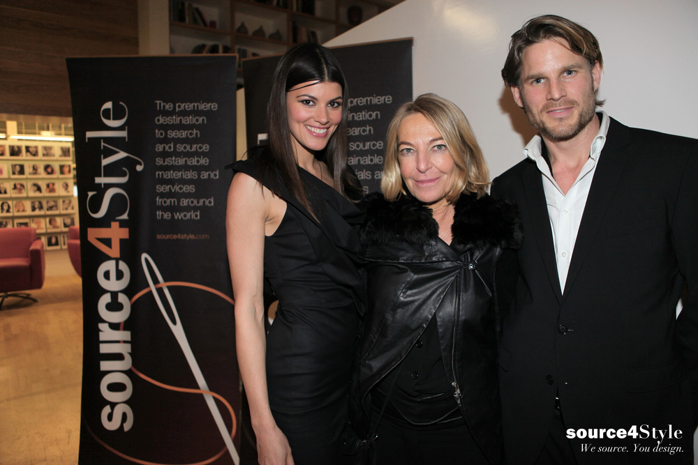 Head of the British Fashion Council, Anna Orsini and Actor Noah Huntley came to celebrate the Source4Style launch in London.