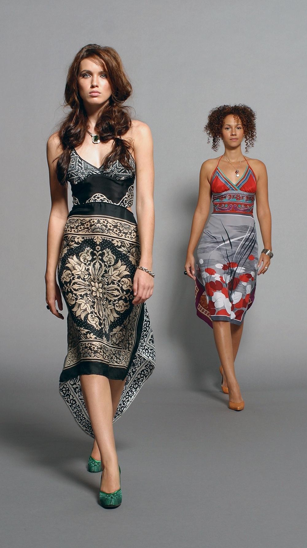 One-of-a-Kind Vintage Scarf Dresses
