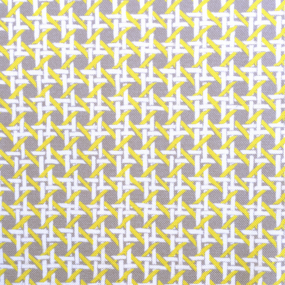 Mini Cane Print in Gull Gray  PALM SPRINGS COLLECTION
