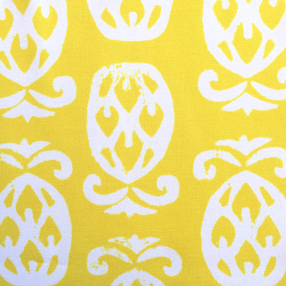 Pineapples in Sunshine Yellow/White PALM SPRINGS COLLECTION