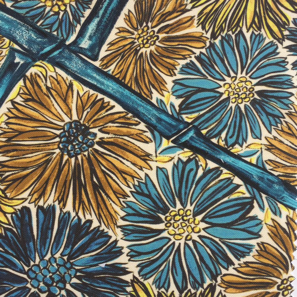 Bamboo Floral in Blue CHINOISERIE COLLECTION
