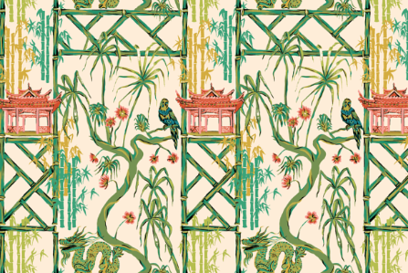 Pink Pagoda in CREAM  CHINOISERIE COLLECTION