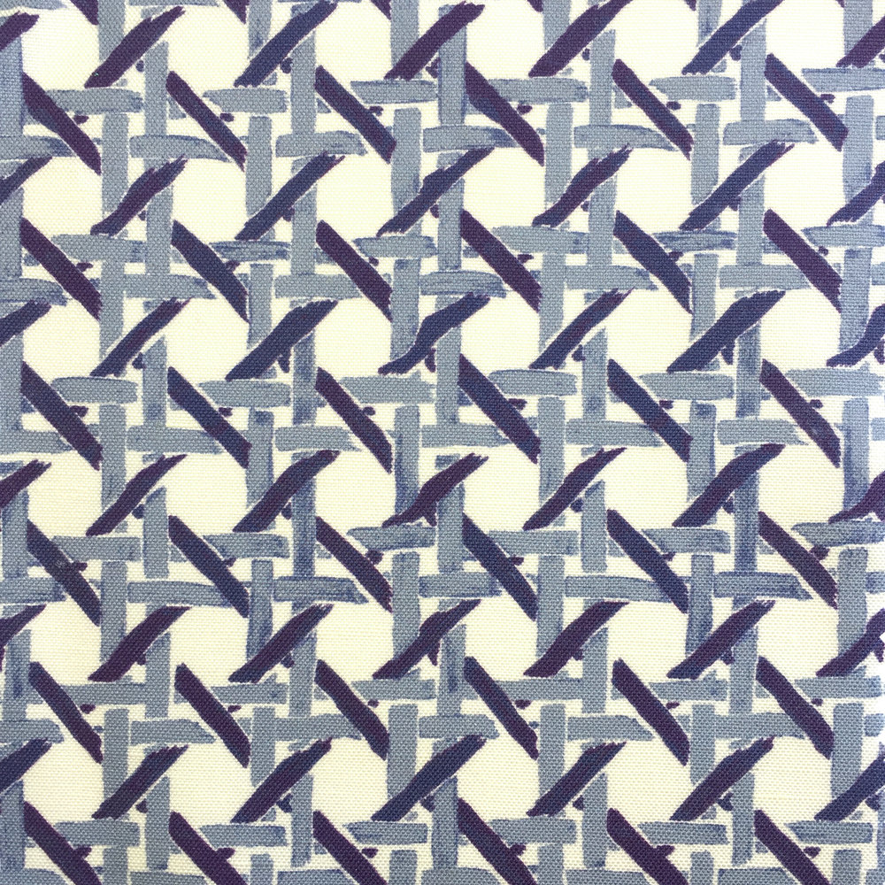 Cane Print in BLUE  PALM SPRINGS COLLECTION
