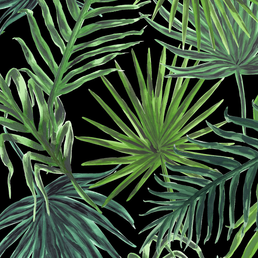 PALMS Print in BLACK  PALM SPRINGS COLLECTION