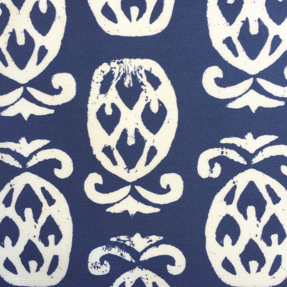 Pineapples in TRUE NAVY/White  PALM SPRINGS COLLECTION