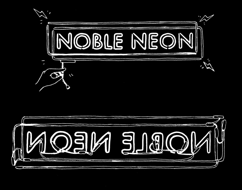 Noble Neon sign front and back black sketches.jpg