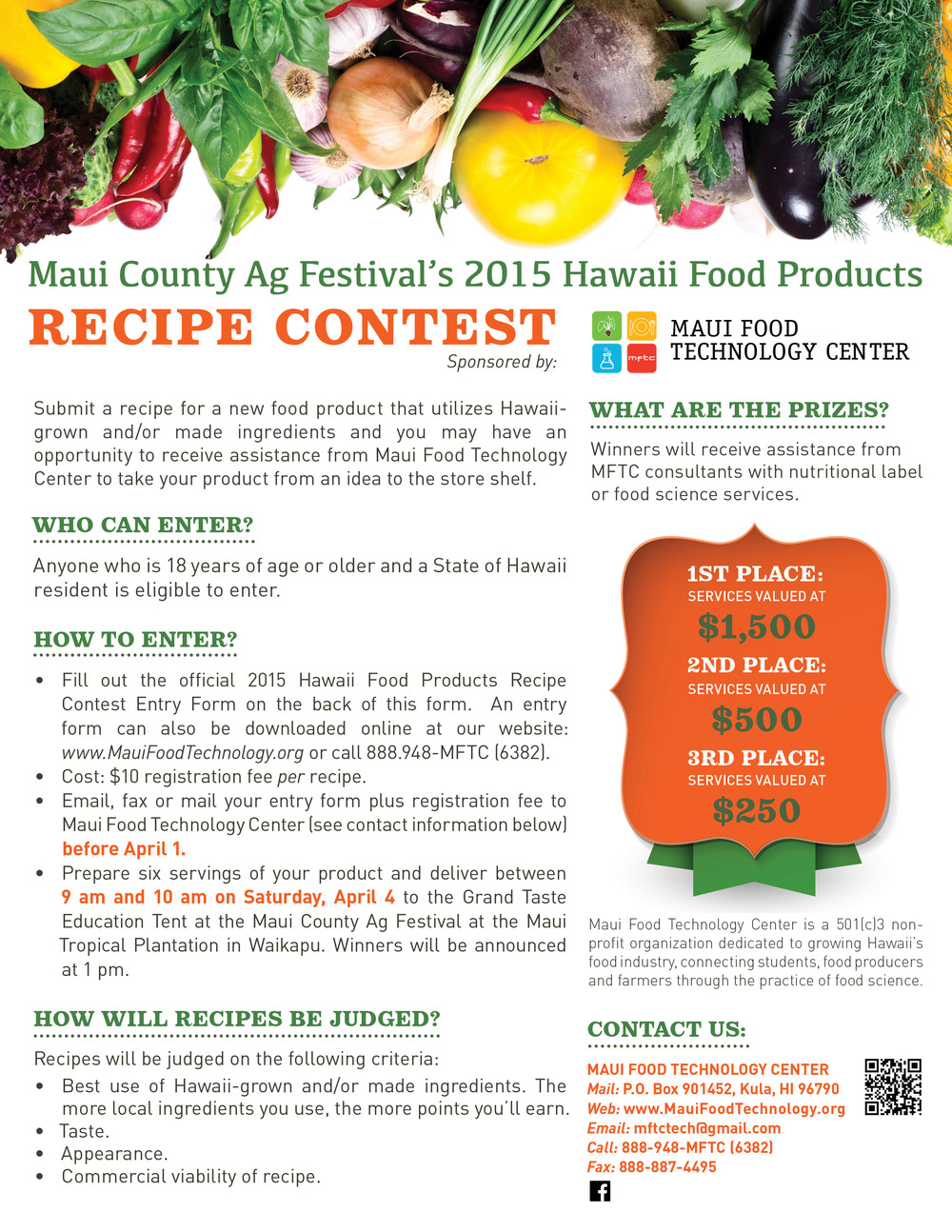 MFTC Recipe Contest flyer