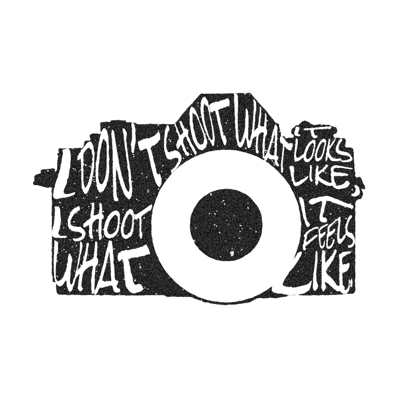 My digital camera typography illustration