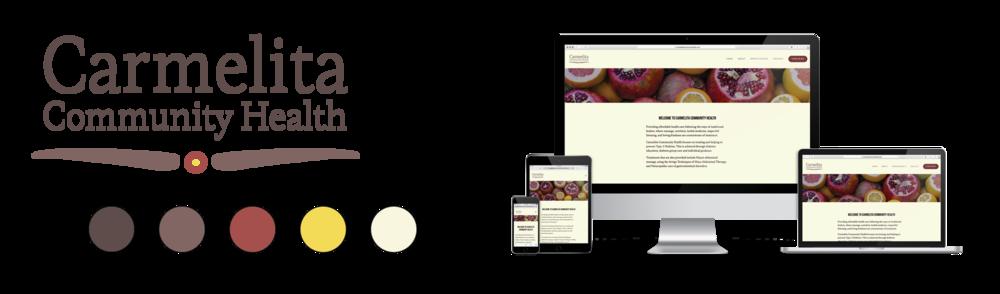 Carmelita Community Health branding + website sample
