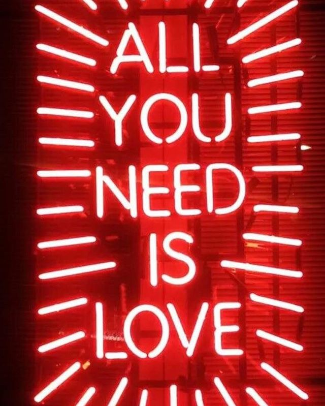 How do you show love? Do you believe that it's all you need? Where is it? How many times a day do you say it? Did you tell yourself that you loved YOU today?