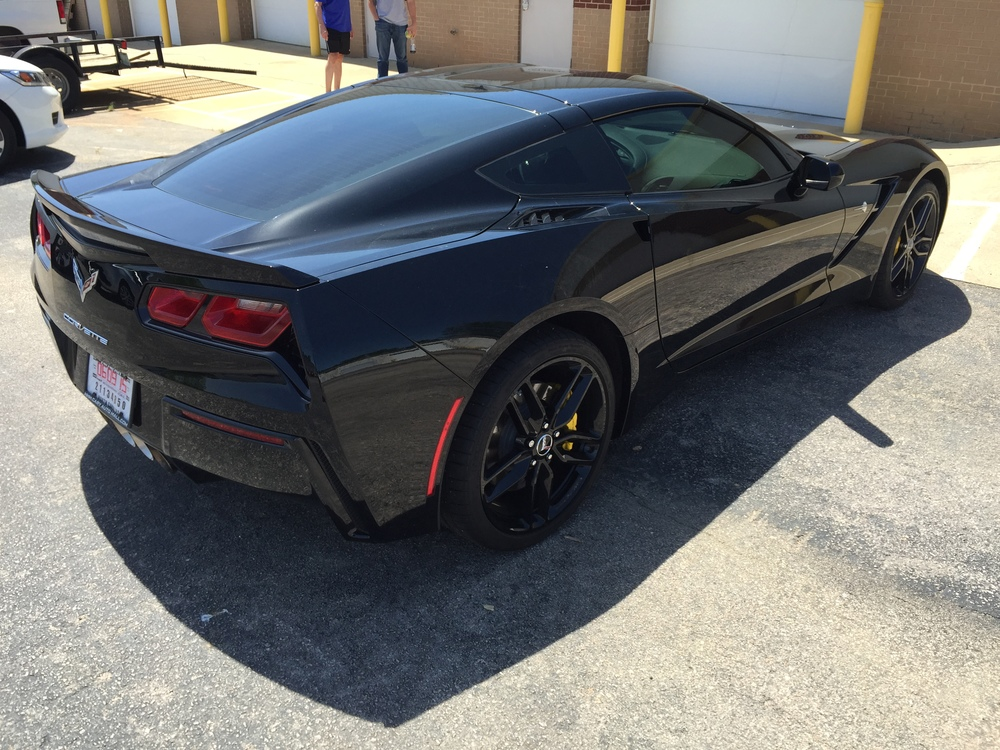 Black on Black Corvette