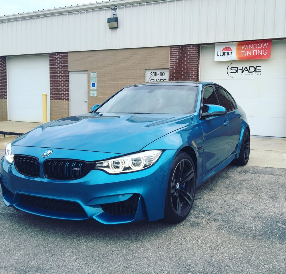 Shade Custom Tint Window Tinting Apex Cary Raleigh Nc 2010 Toyota Corolla S Tinted Bmw M3