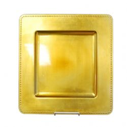 gold square charger plate