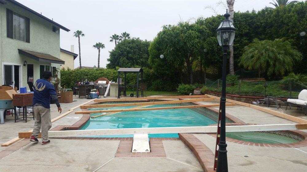 platform pool cover rentals