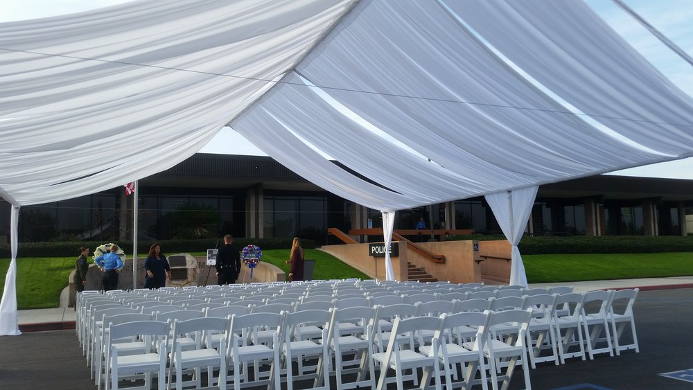 fabric tent rental los angeles
