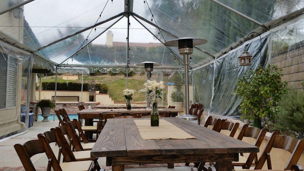 Clear tent rentals