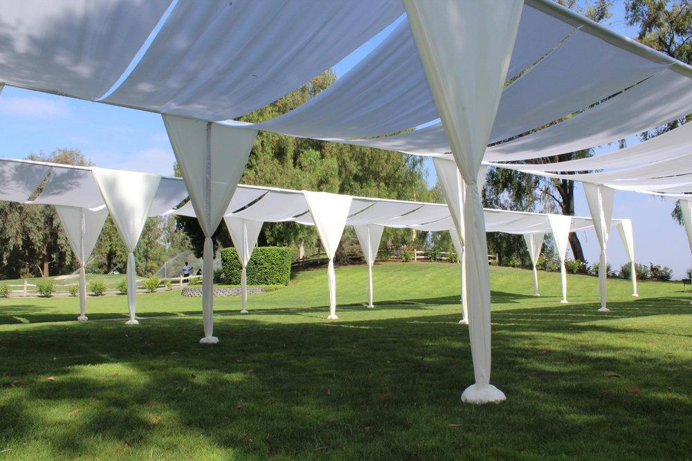 fabric shade tent