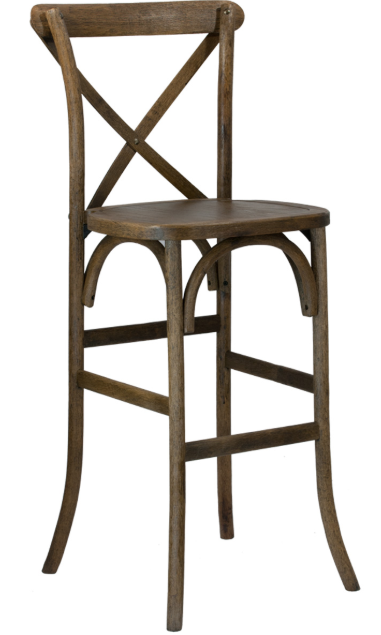cross back bar stool