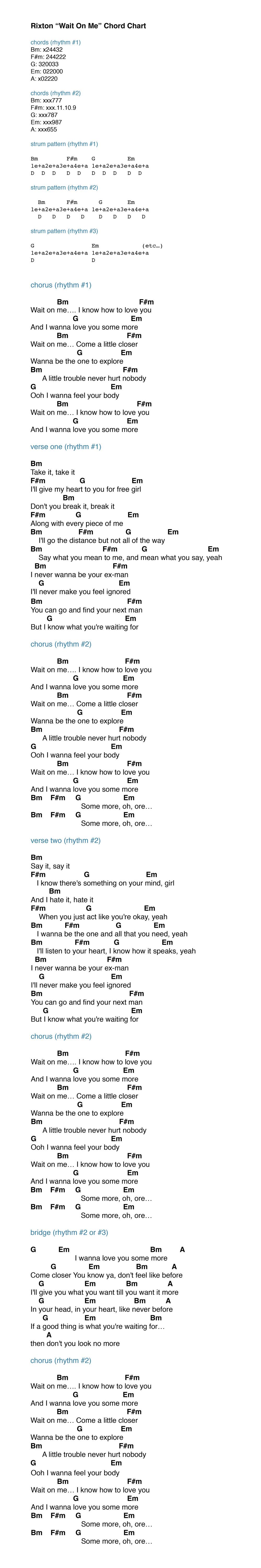 Rixton_Wait_On_Me_Chord_Chart