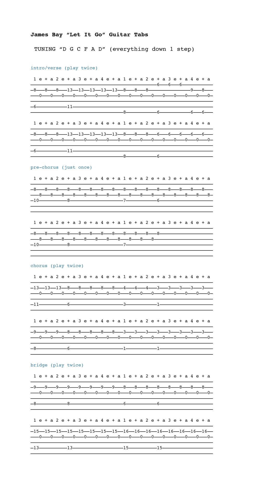 Fine Let It Go Chords Guitar Sketch Song Chords Images Apa