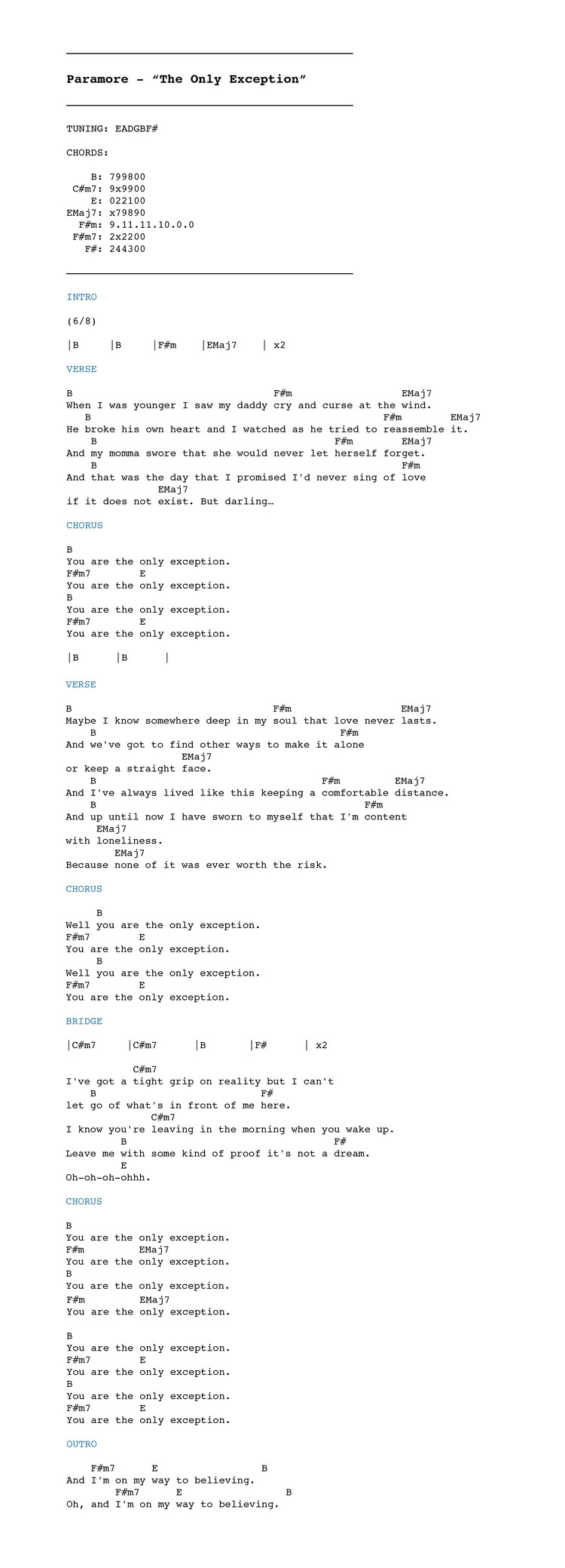 Colorful She Will Be Loved Guitar Chords Elaboration Song Chords