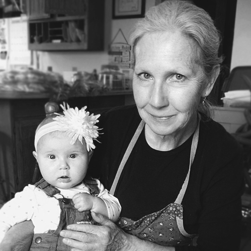 Sonia Meccage, Soapmaker  Pictured with granddaughter Eleanor