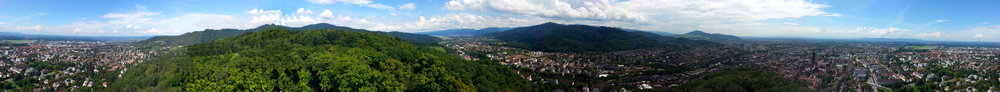 A panorama shot of Freiburg, the town the Heliotrope calls home.