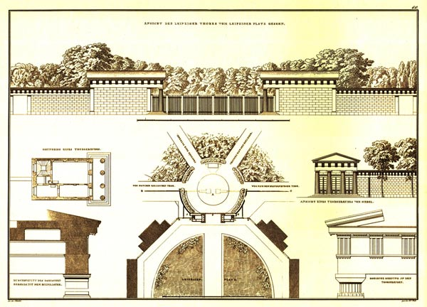 Frederick Schinkel drew up this design for Potsdam Gate Image and Content Source