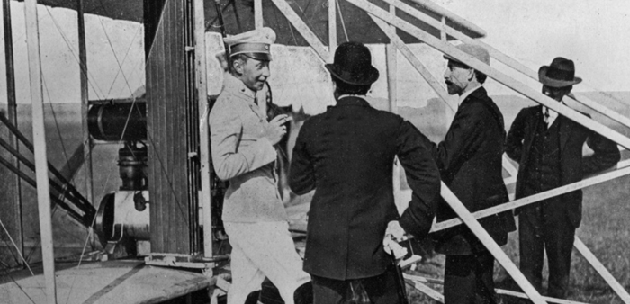 Orville Wright at Tempelhof Field Airport Image Source