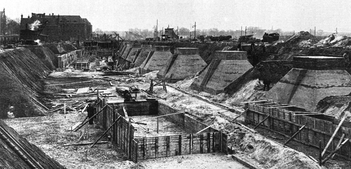 The concentration camp was demolished in 1938. Image Source