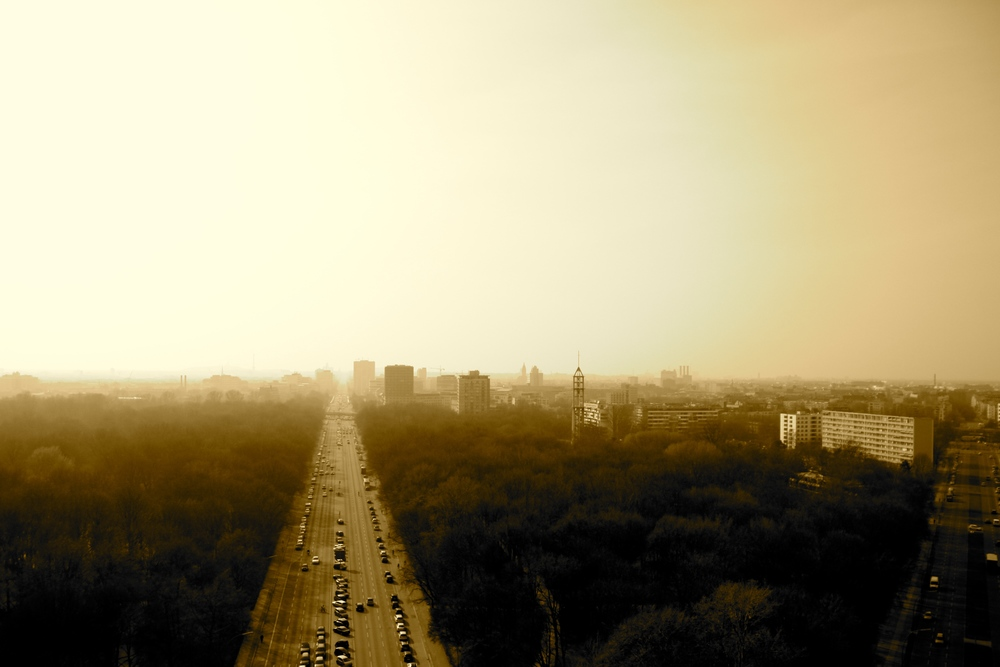 The view from the Victory Column in the middle of Tiergarten