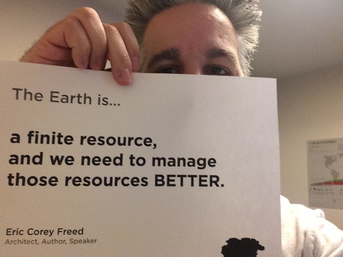 "Eric Corey Freed participates in our ""The Earth Is"" Project"