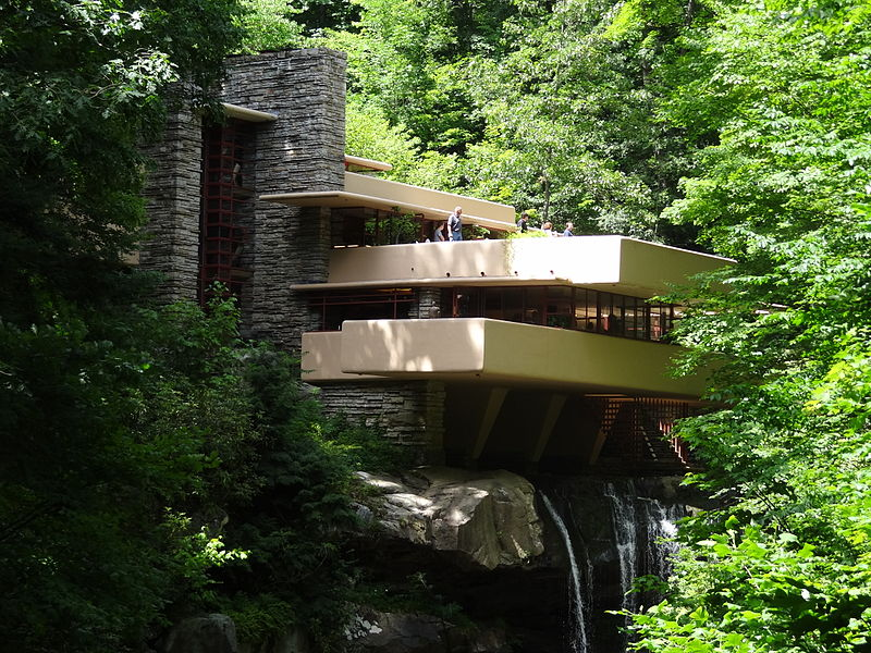 Fallingwater by Frank Lloyd Wright Image Source