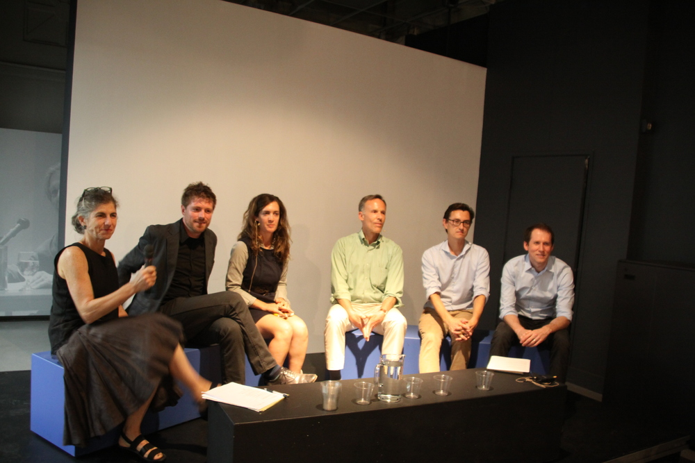 Panelists: (From left to right) Deenah Loeb, Nick Pevzner, Mary Mattingly, Andrew Johnson, Etienne Benson, and Aaron Levy