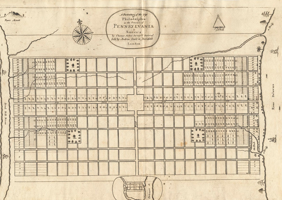 1683 Map of Philadelphia