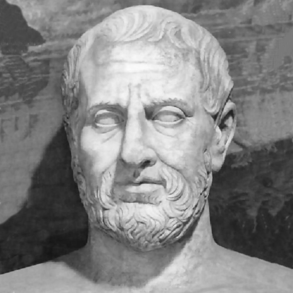 A bust of Theophrastus (c. 371 – c. 287 BC), Aristotle's pupil and among the most important natural scientists of antiquity.