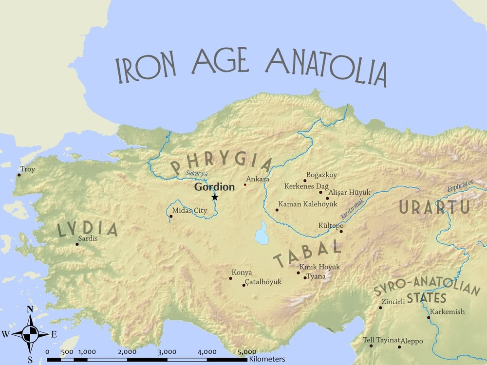 MAP 1: Key sites and culture groups of Iron Age (950-550 BCE) Anatolia (modern Turkey). (Credit: Lucas Stephens).