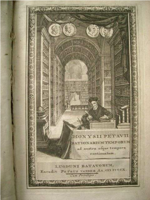 Dionysius Petavius, who in his 1627 work  Opus de Doctrina Temporum  argued for the standardized use of the BC/AD dating system.