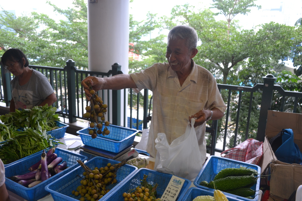 Photo: Star Ferry Pier Organic Farmer's Market in Central Hong Kong