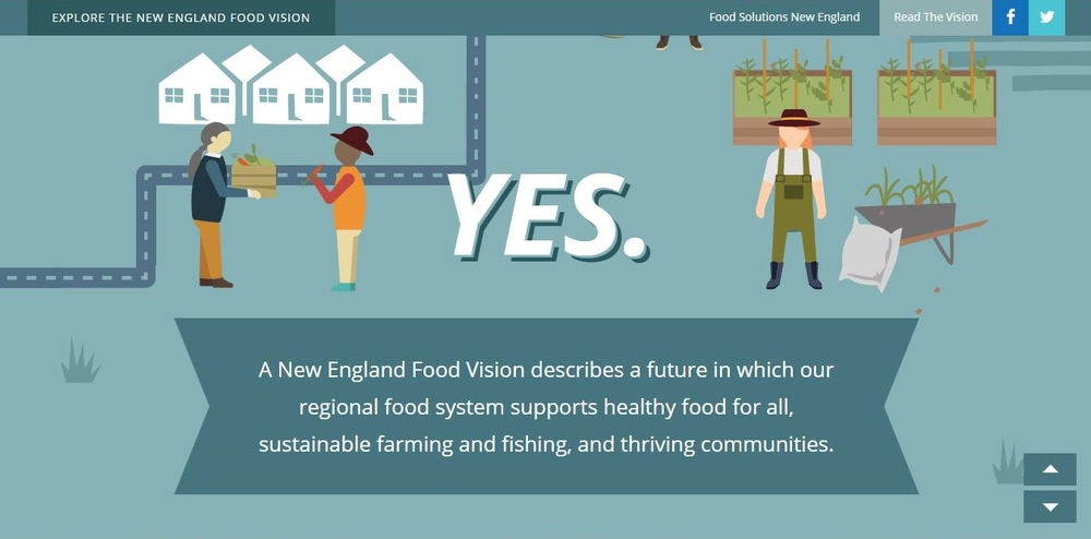 "Figure 3: Screenshot of the New England Food Vision ""exploration"" on their website.  Source: Food Solutions New England."