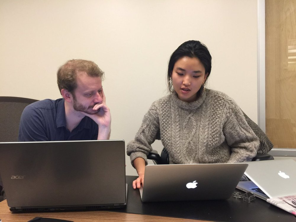 PPEH Fellow Kevin Burke and PPEH Program Coordinator Patricia Kim.