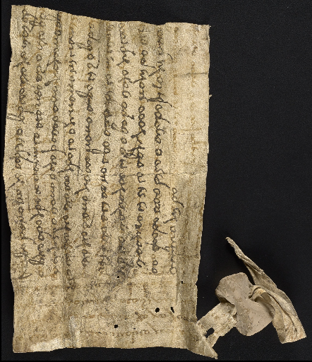Nawaz letter with seal, palimpsest. Rare Book and Manuscript Library, University of Pennsylvania LJS 489.