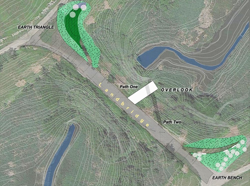 Mierle Laderman Ukeles, Landing Site Plan: Overlook and Earthworks, 2008-ongoing. Via The Freshkills Park Alliance.