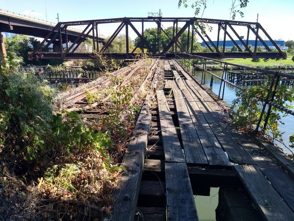 The Newkirk viaduct and Grays Ferry bridge, Schuylkill River, Philadelphia.