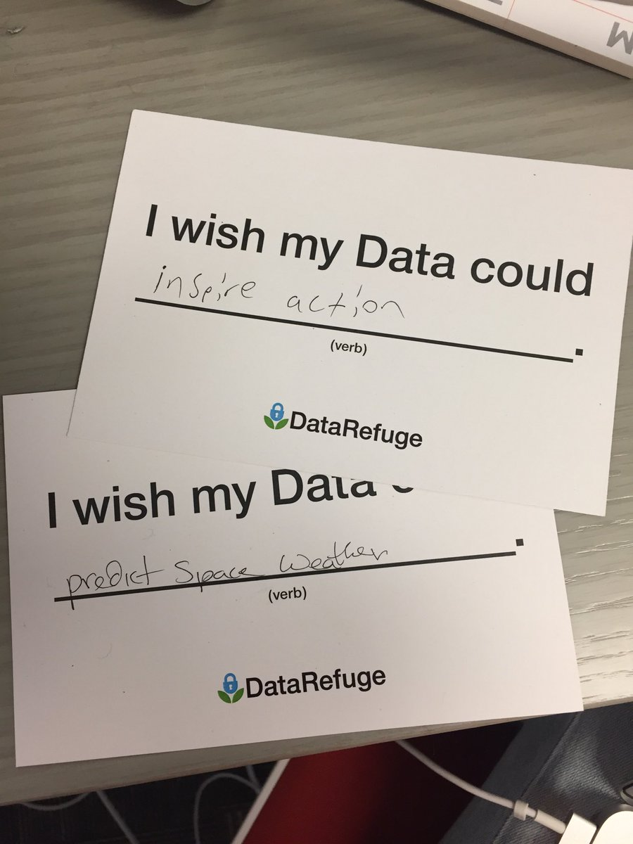 Researchers worldwide shared a range of Data Wishes with Data Refuge.